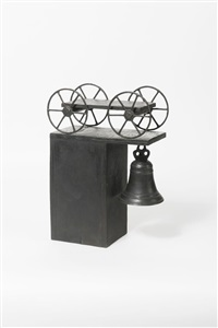 carro con campana by mimmo paladino
