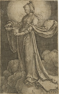 maria magdalena auf den wolken (+ 2 others; 3 works) by lucas van leyden