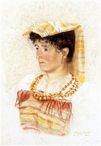 joven campesina italiana by eugenio alvarez dumont