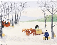 gathering sap by grandma moses
