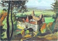 vue du château de bazoches, ancienne demeure du maréchal de vauban by constantine kluge