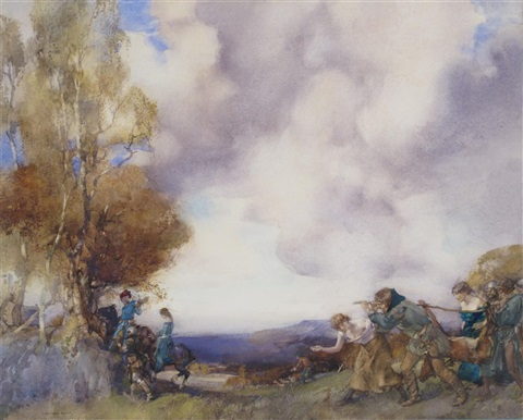 the happy hunters by william russell flint