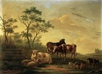 weideidyll mit kühen, schafen und ziegen by matthijs quispel
