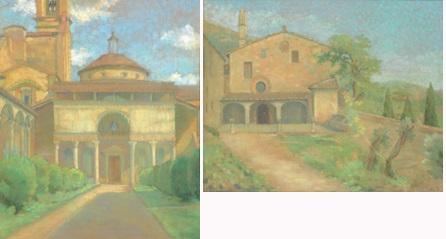 la chapelle de pazzi une vue de la campagne toscane 2 works by amélie sauger