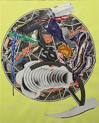 whale as a dish from the waves series by frank stella