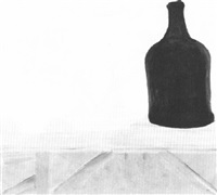 cup, bottle and pears by kate nicholson