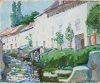 By the Canal, Crécy-en-Brie, 1911