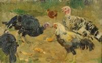 animali nell'aia by umberto coromaldi