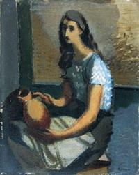jeune fille à la cruche by nicolas wacker