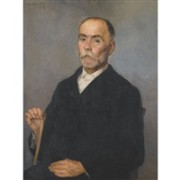 portrait of a man (old sourbos) by polychronis lembessis
