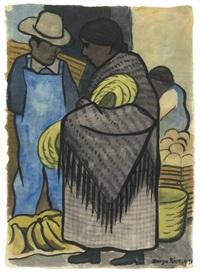 vendedora de retazos by diego rivera