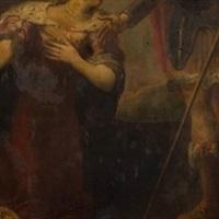la famille de darius aux pieds d'alexandre by flemish school