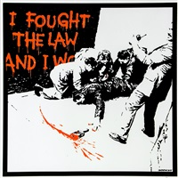 i fought the law by banksy