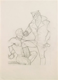 s/t (chained neck) by tom of finland