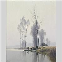 brume matinale sur l'eure en novembre by alexandre jacob