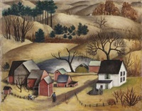 landscape with a farm by lucile blanch