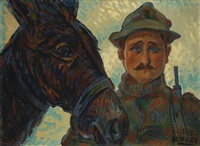 due amici - guerra 1915-1918 by anselmo bucci