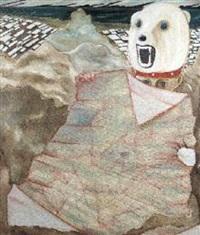 paesaggio e bimbo con cappello ad orso by francesco bonami