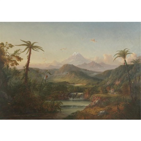 chimborazo, queen of the andes by alexander françois loemans