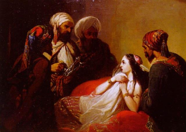 femme surprise par quatre orientaux by nicholas edward gabe