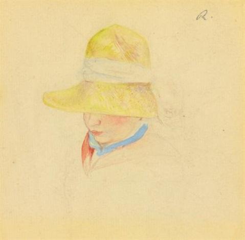 madame renoir au chapeau by pierre auguste renoir