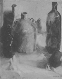 bottles, fruit jug by bernard badura
