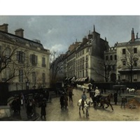 place saint-georges, paris by edmond georges grandjean