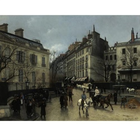 place saint georges paris by edmond georges grandjean