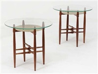 paire de tables d'appoint (set of 2) by illum wikkelso and poul hundevad