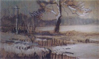 the ash tree in the snow - a view from my window by robert graham dryden alexander