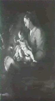 la madonna col bambino e s. giovannino by simone barabino
