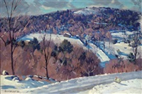 hillside winter landscape by robert b. atwood