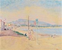 promeneurs sur la plage by lucien adrion