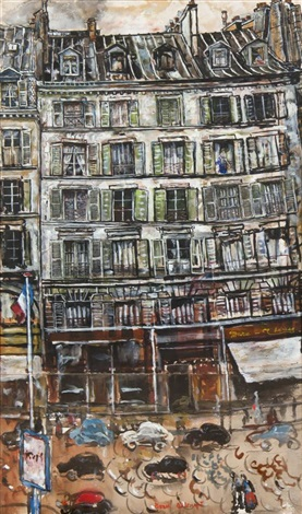 rue du bac paris by ivan albright