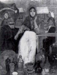 vrouwenfiguren op de markt by anna maria stork-kruyff