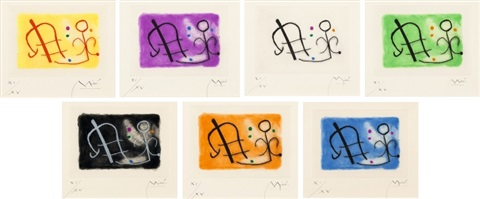from fusees set of 7 by joan miró