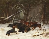 bärenjagd by wilhelm reinhardt