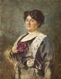 portrait of a lady by max liebermann