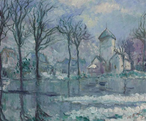 the mill in the flood giverny by theodore earl butler