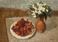 stillleben mit erdbeeren by lev simak