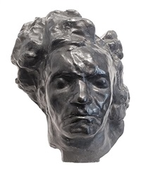 beethoven, tête monumentale, study for the metropolitan by émile antoine bourdelle