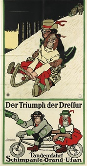 der triumph der dressur/tandemfahrt by august fischinger
