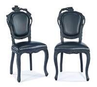 smoke dining chairs (2) by maarten baas