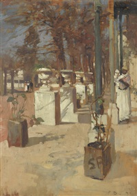 a south african garden by sir frank brangwyn