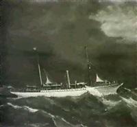 an american yacht;                     y sorrano (34 x 50) by nicola fondo