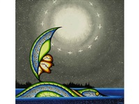 nunabush experiencing a dream of being an island for the loon by james jacko