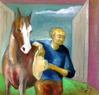 man and horse by emmanuel garibay