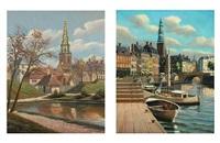 copenhagen sceneries (2 works) by frederik wilhelm svendsen