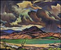 thunder clouds over okanagan lake, bc (recto); garibaldi park (verso) by james (jock) williamson galloway macdonald