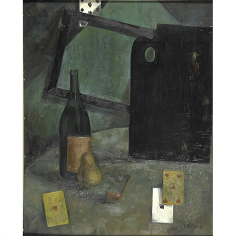 still life with cards by jean pougny